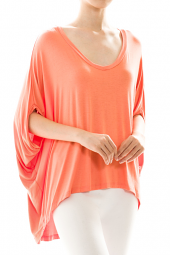 3/4 Dolman Sleeve Oversized Drape Top