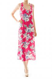 Vacation Chic Floral Print Midi Dress