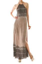 Dip Dye Halter Side Slit Maxi Dress