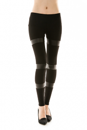 Faux Leather Wrapped Leggings