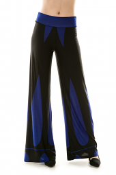 Colorblock Wide Leg Stretch Active Pants