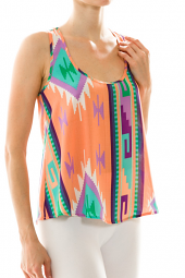 Bright Tribal Print Racerback Tank Top