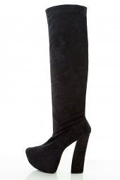 Over Knee Stretch Chunky High Heel Hidden Platform Boot