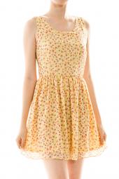 Fit & Flare Floral Tank Mini Dress