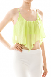 Front Drape Detail Layer Crop Top