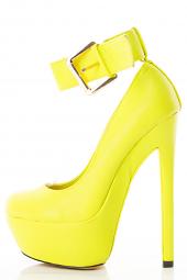 Sky High Ankle Strap Stiletto Heel Chunky Platform Pump Sandal Shoes
