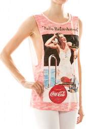 Retro 'Refreshment' Wrapped Back Muscle Tank Top