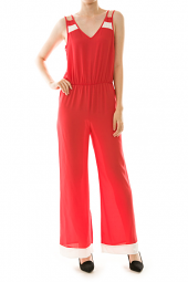 Double Strap V-Back Sleeveless Jumpsuit
