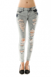 Ripped & Destroyed Denim Skinny Jeans