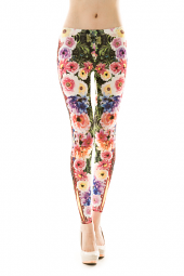 Floral Tribal Print Stretch Leggings