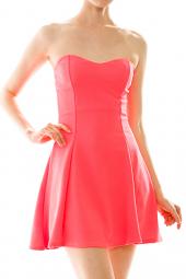 Textured Sweetheart Fit & Flare Mini Dress