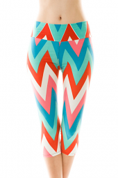 Large Chevron Print Stretch Leggings