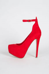 Ankle Strap Mary Jane Almond Toe Stiletto Women High Heel Shoes
